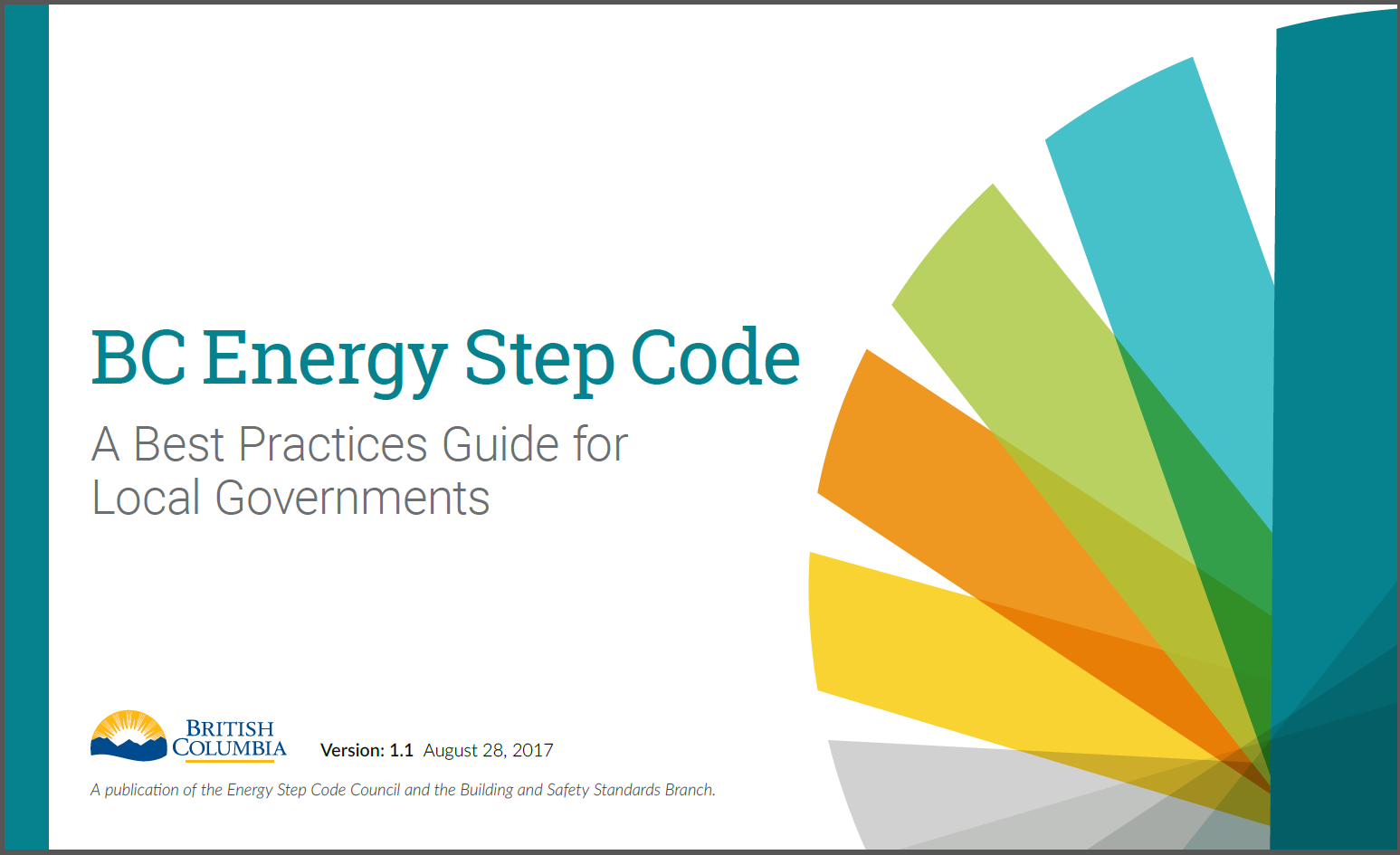 Image of the cover of the BC Energy Step Code Best Practices Guide for Local Governments