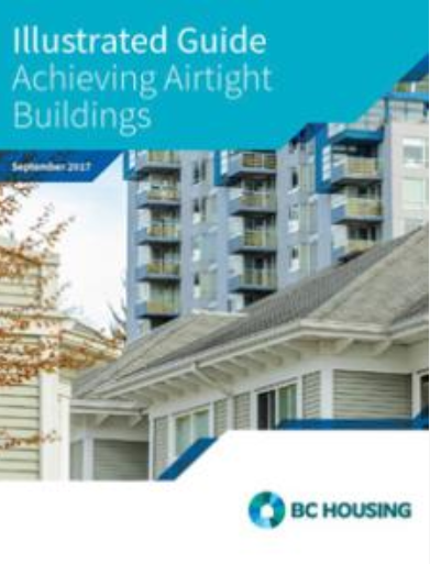Image of the cover of the Illustrated Guide - Achieving Airtight Buildings